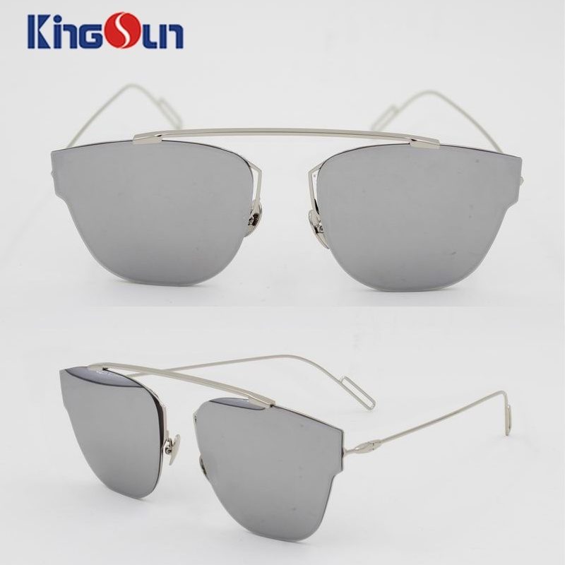Fashion Lady′s Sunglasses with Heavy Mirror Lens Ks1058