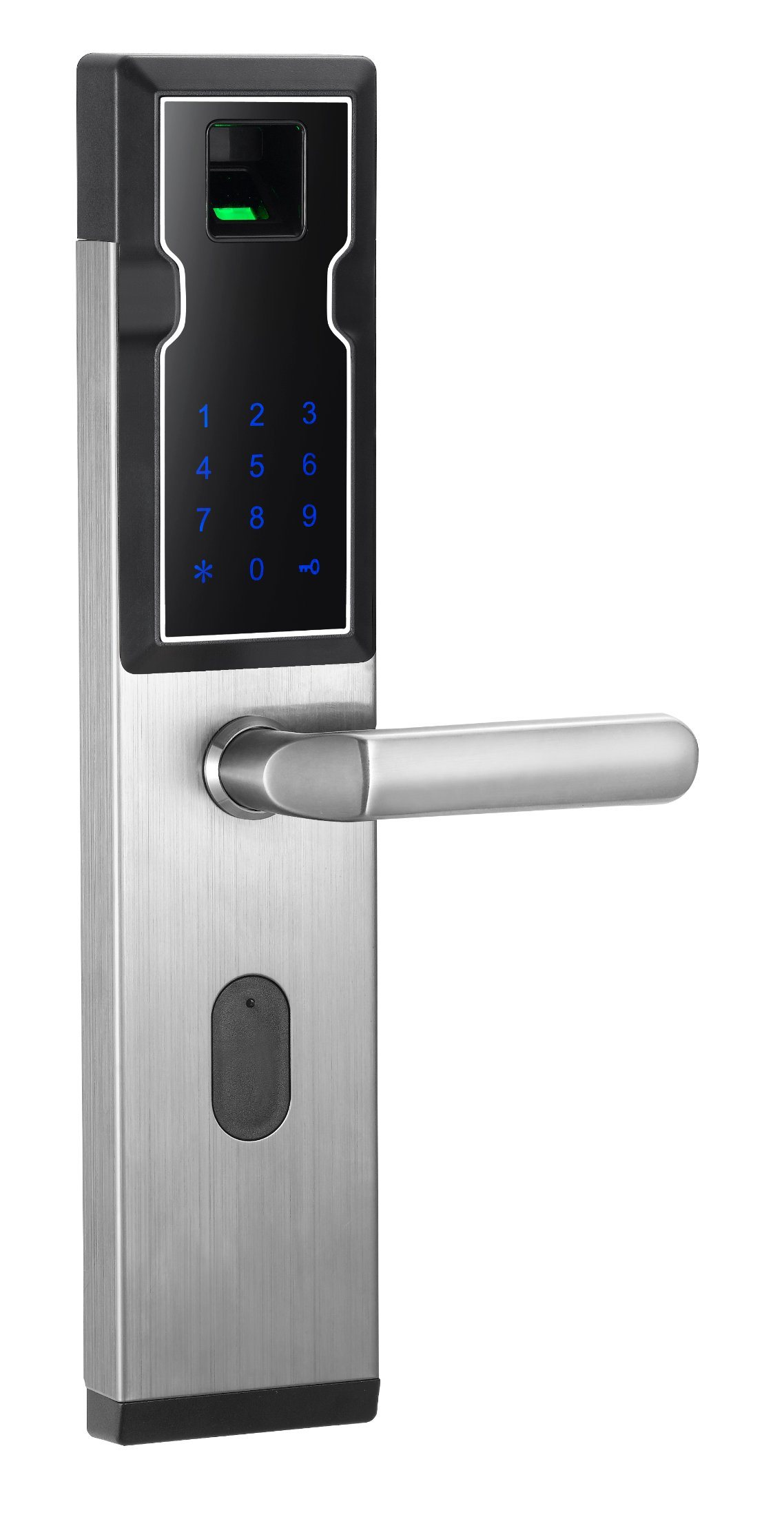 [Hot Item] High Security Fingerprint Keypad Smart Door Lock Unlock with  Code, Card, Fingerprint and Key