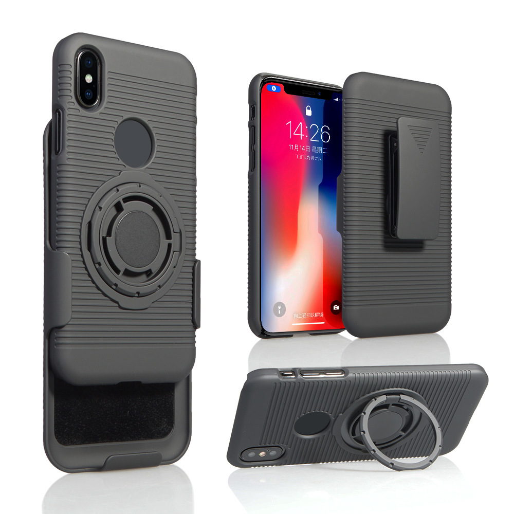 official photos bdbc4 e77e6 [Hot Item] Cell Phone Accessories Holster Combo Case 8 Function in 1 for  iPhone X Case with Magnet Car Holder/Armband Sport Running Armband