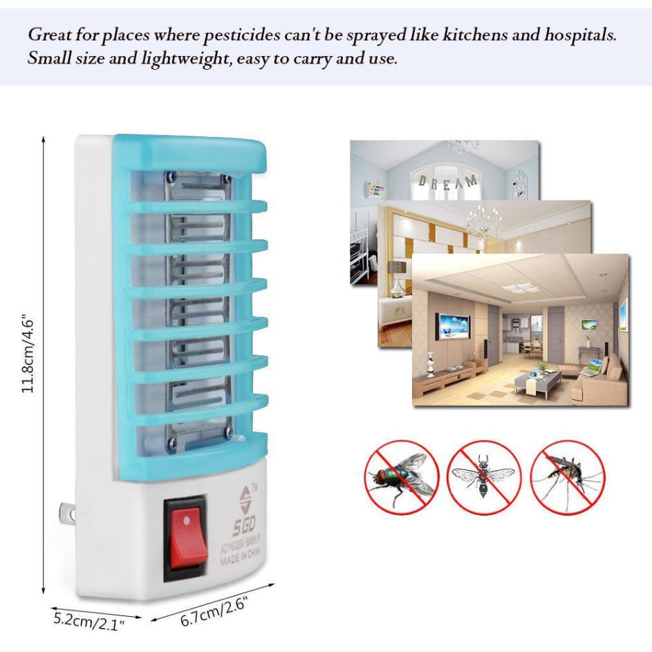 Mosquito Killer Lamps LED Socket Electric Mosquito Fly Bug Insect Trap Killer Zapper Night Lamp Lights Lighting EU Us