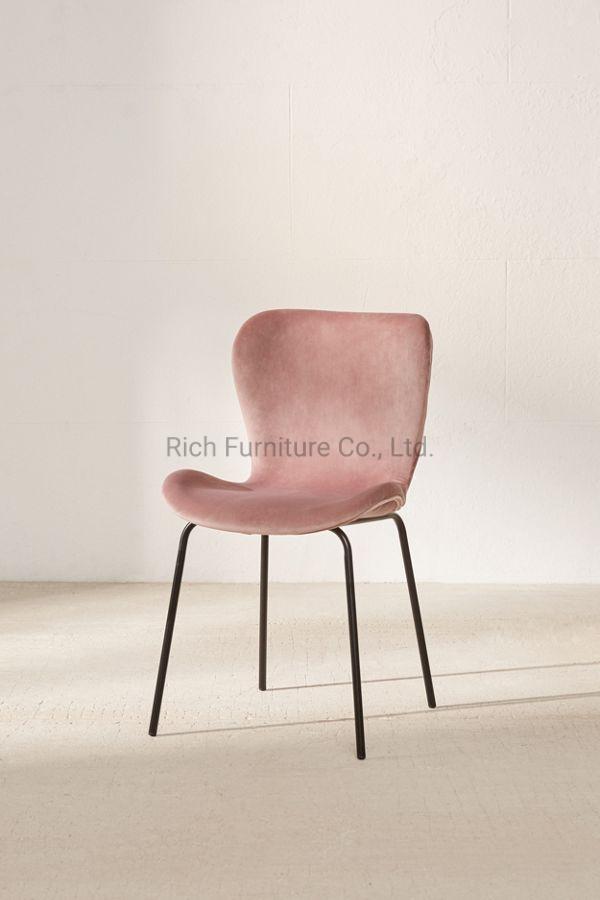 Fantastic China Nordic Rose Gold Cool Pink Fabric Velvet Cushion Uwap Interior Chair Design Uwaporg