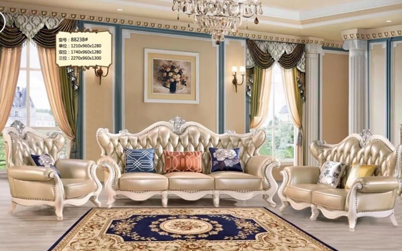 China Luxury Classical Fabric Sofa, Beautiful Living Room Furniture Sets