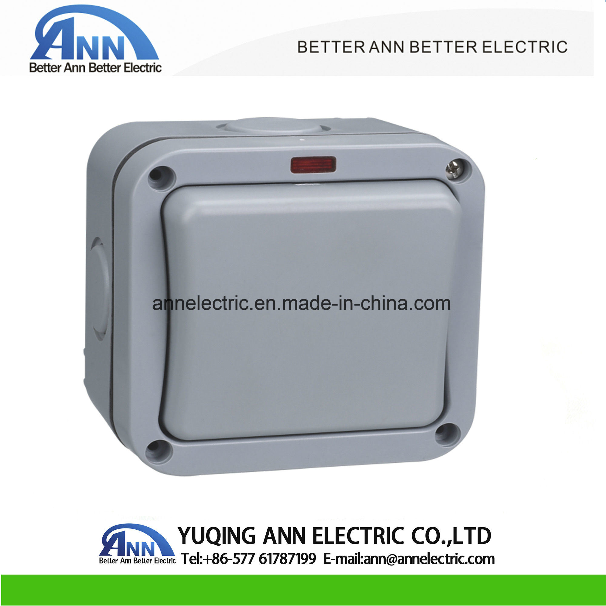 China Ap Series Ap12 Weatherproof Switches 1 Gang 2way 2 Way Retractive Switch Socket