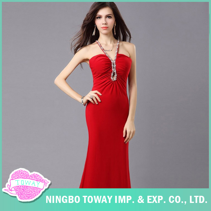 China Buy Simple Latest Ladies Designer Formal Red Evening Gowns ...