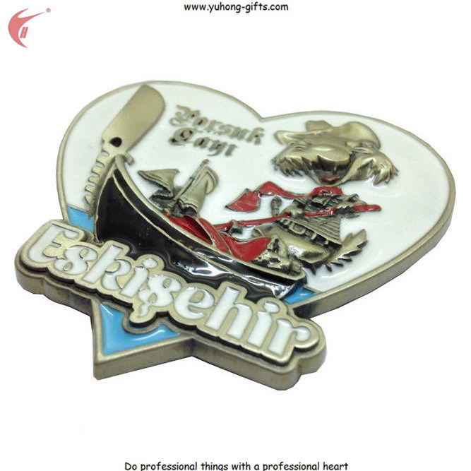 Customized Metal 3D Fridge Magnet for Gifts (YH-FM098) pictures & photos
