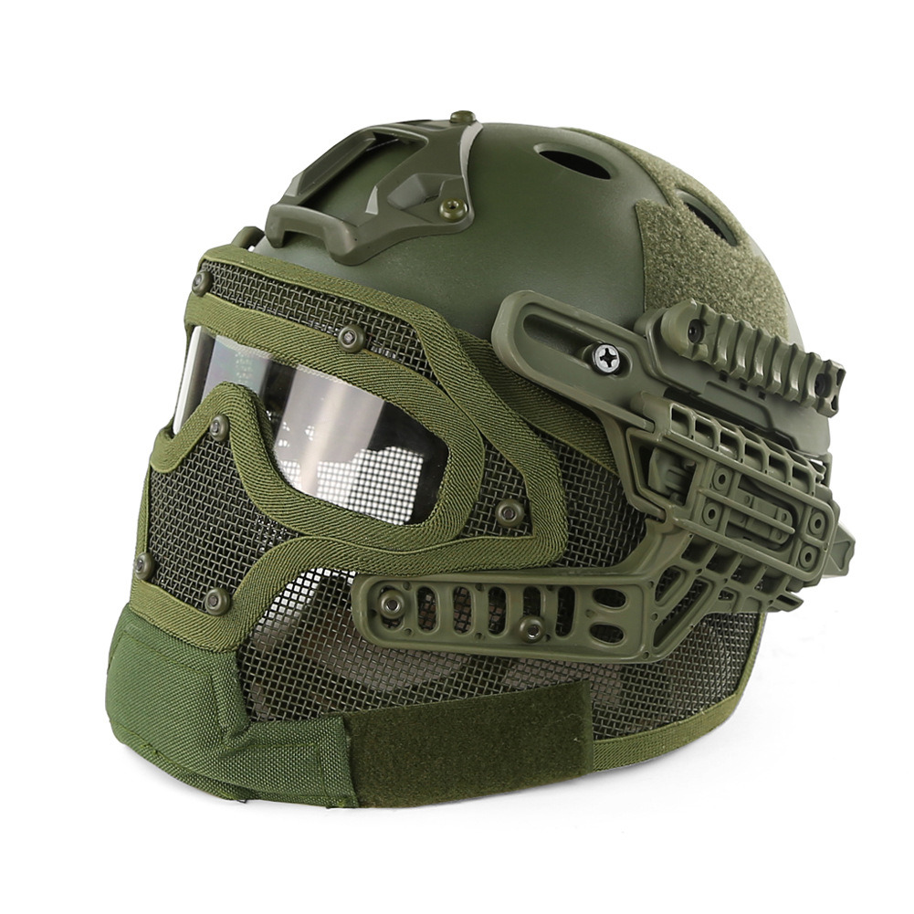 New China Wholesale Fast Helmet with Strike Wire Mask Set