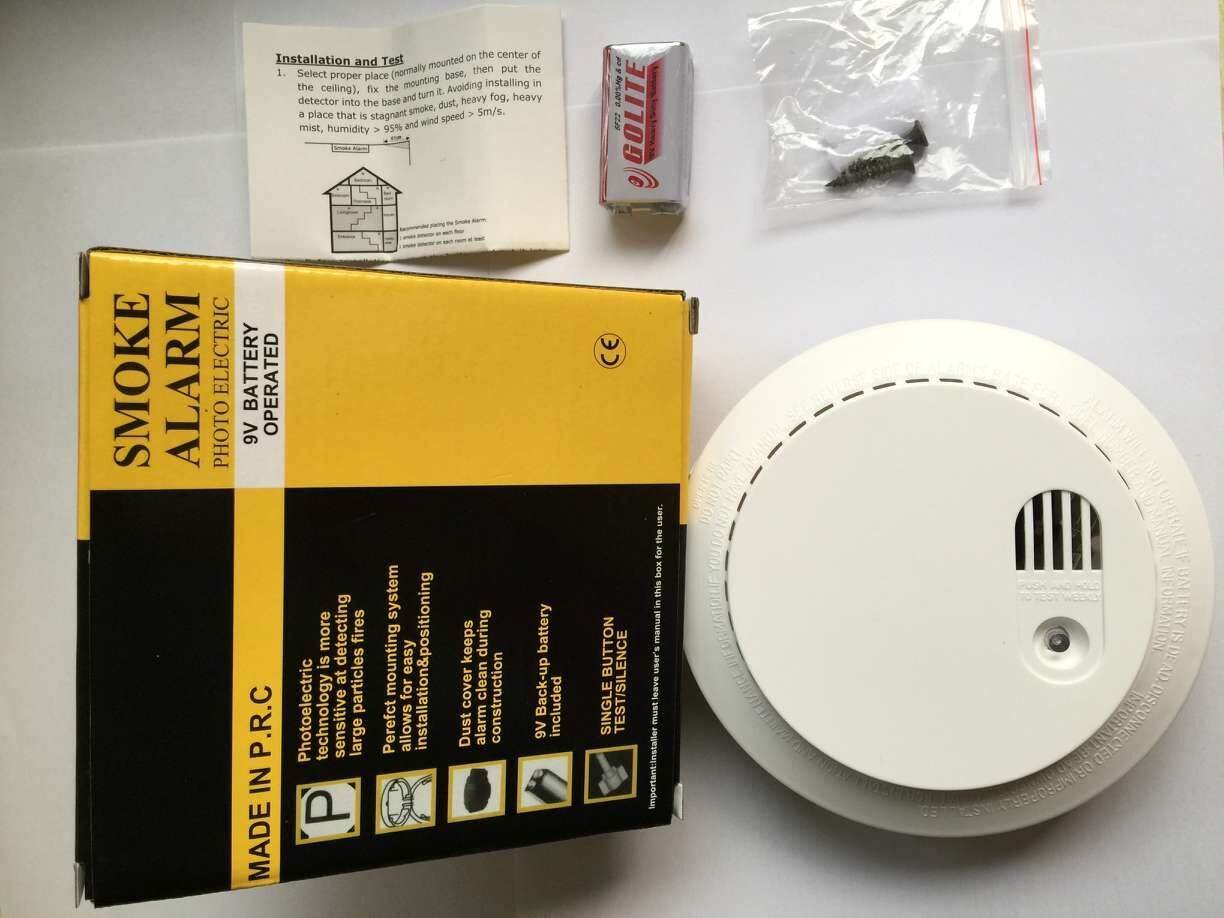 China Oem Smoke Detector Fire Alarm Gas 2 Wire Network 2wire Wiring Diagram Type Photoelectronic
