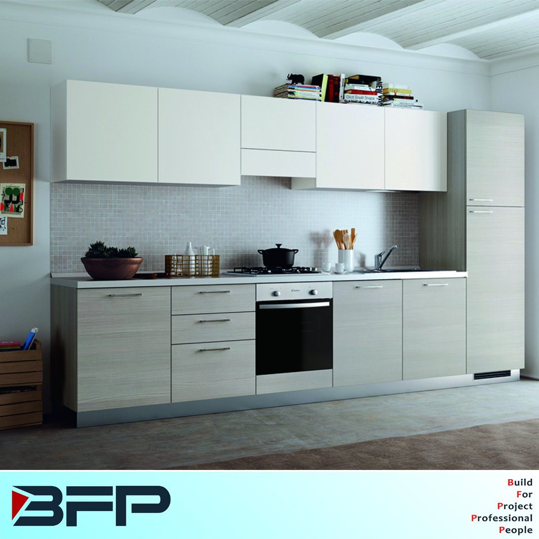 China Melamine Small Kitchen Cabinets For Apartment Project China
