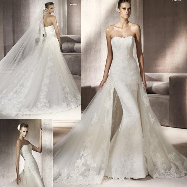 China French Lace Wedding Dress (111094)