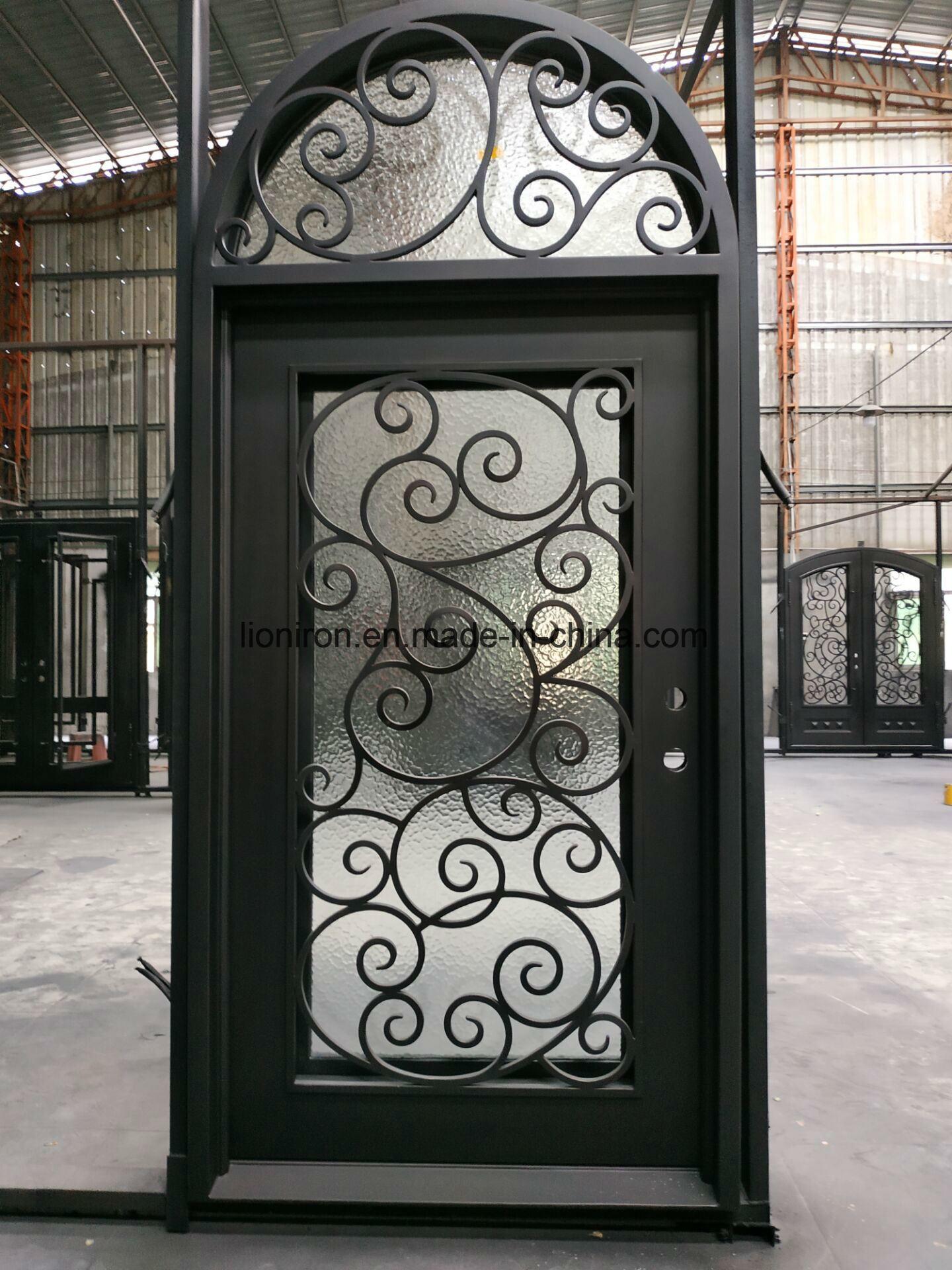 China Security Custom Iron Entrance Door Wrought Iron Front Doors China Wrought Iron Door Exterior Iron Door