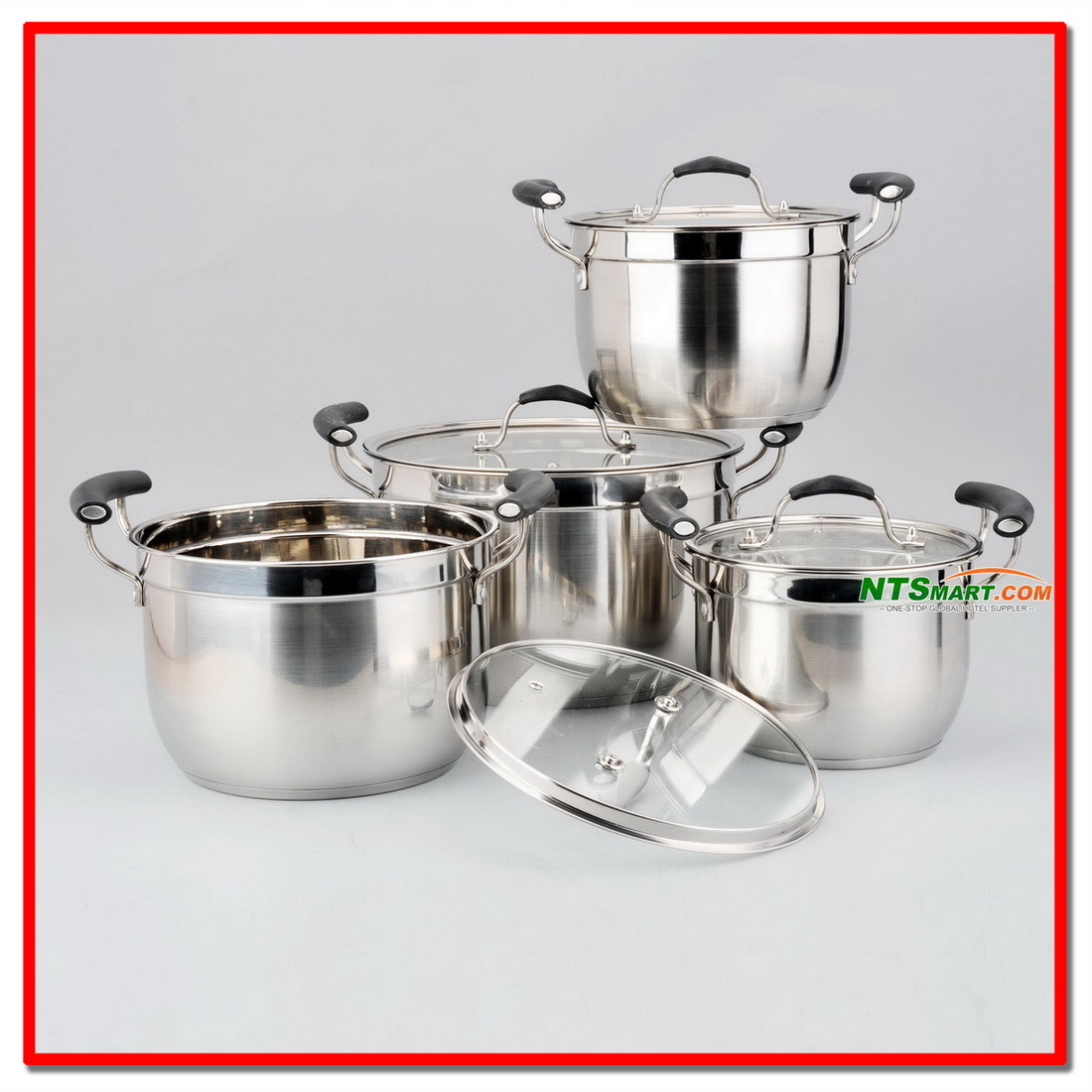 8PCS Stainless Steel Cookware Set Kitchenware (N000006882, 6883, 6884)