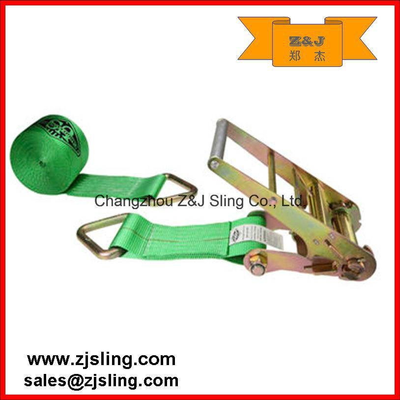 "En12195-2 2"" Double J Hook Ratchet Strap (1""- 4"" customized) pictures & photos"