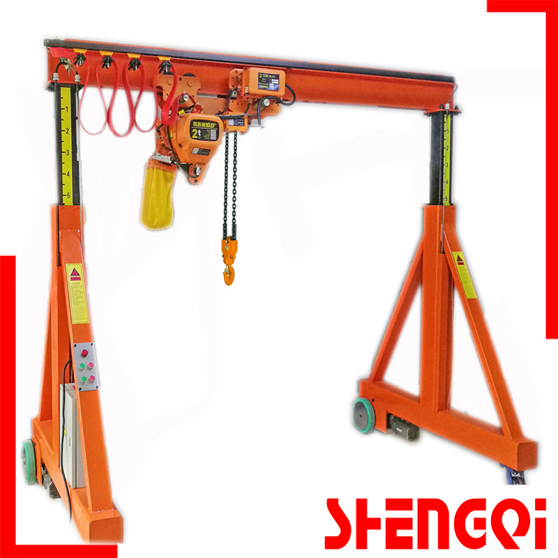China Manual Automobile Arm Adjustable Gantry Crane 2t