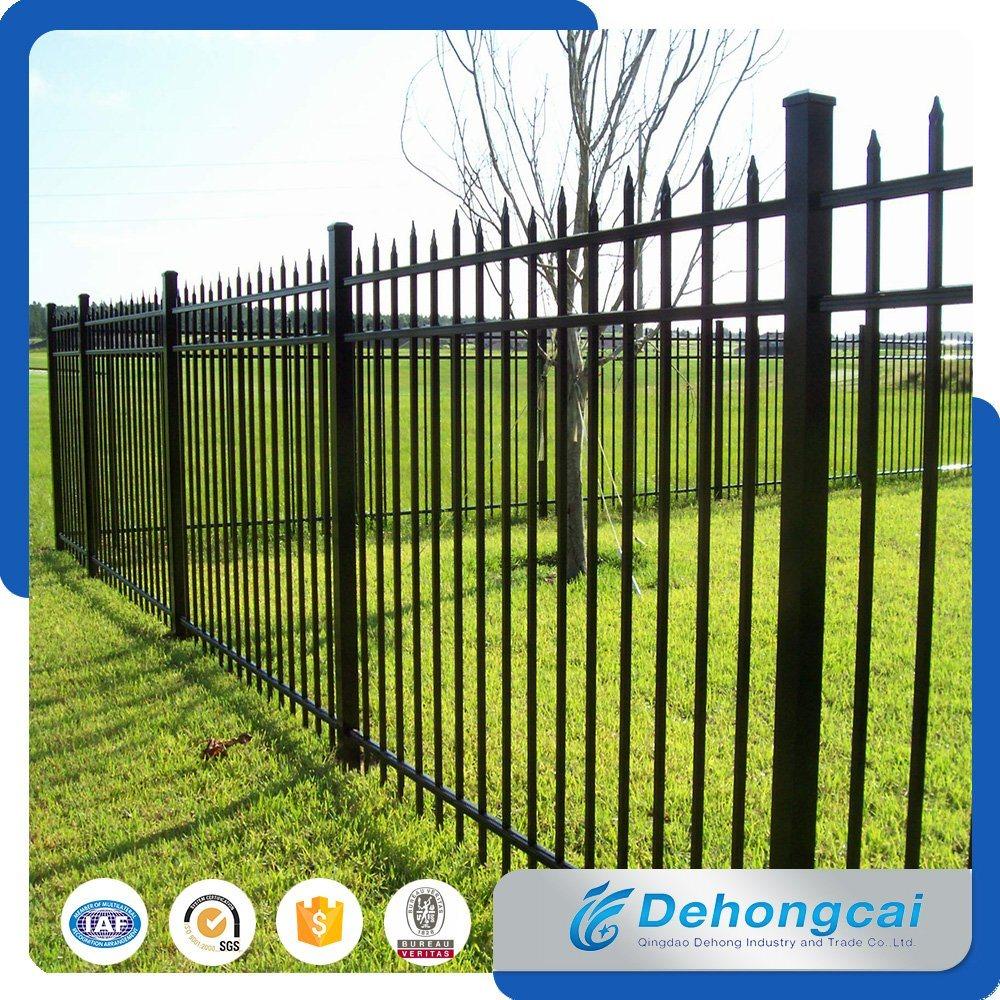 China modern safety galvanized wrought iron garden fence zinc steel fence china iron fence wrought iron fence
