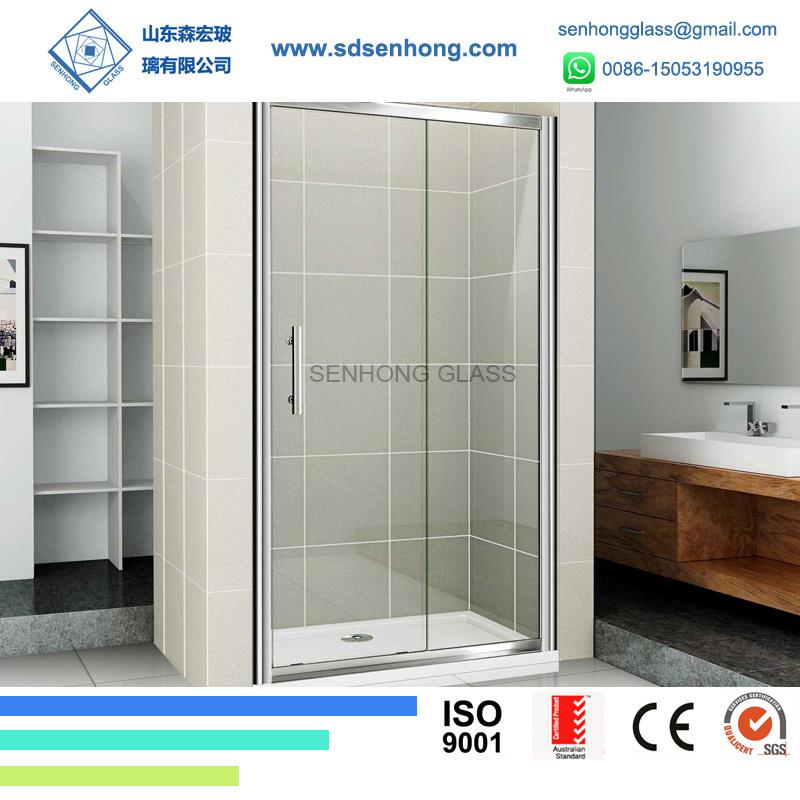 China Decorative Swing Sliding Frameless Tempered Glass Shower Door