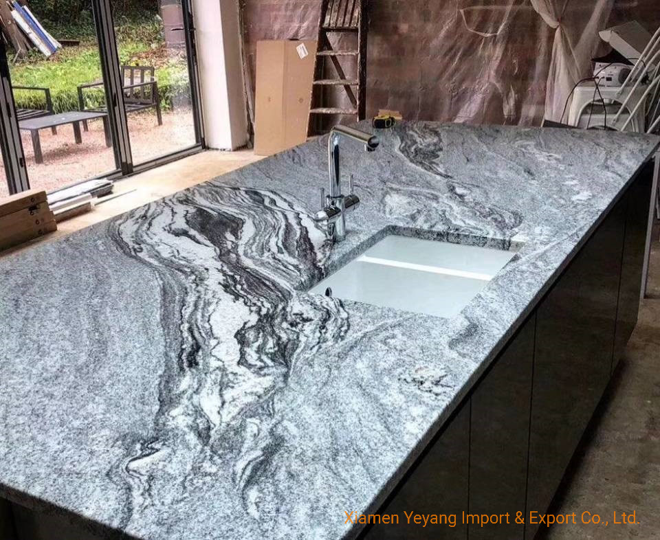 Grey Blue Granite Countertops