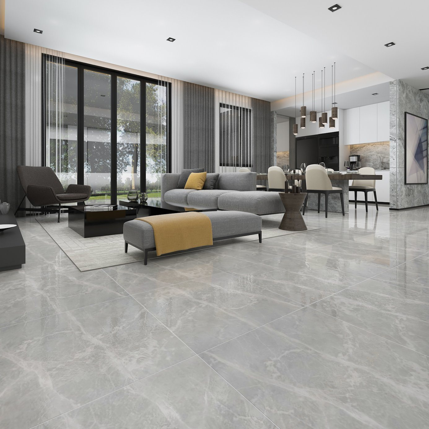 China Factory Price 600x600 Josiah Ash Athens Grey Marble Tile China Flooring Tile Floor Tile