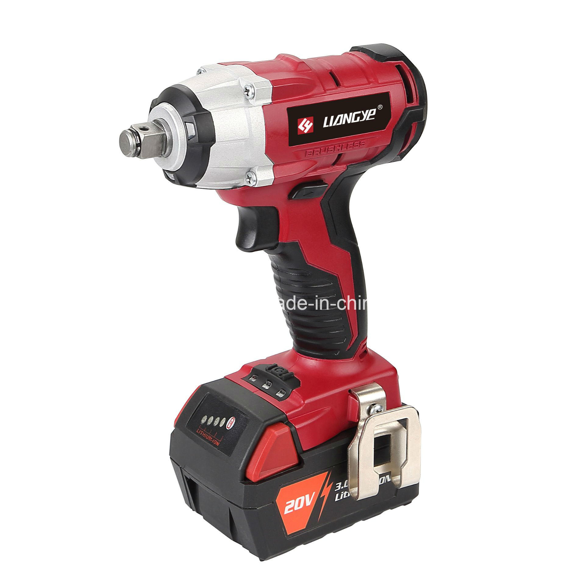 China 18v Li Ion Tool Lcw888 1b Brushless Cordless Impact Wrench Heavy Duty Car