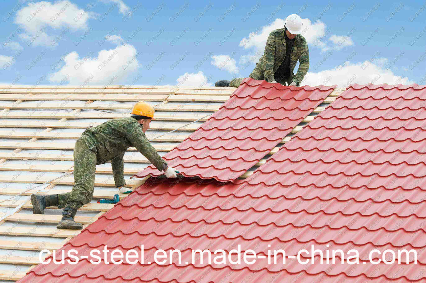 China Colorful Metal Roof Tile Corrugated Metal Roofing