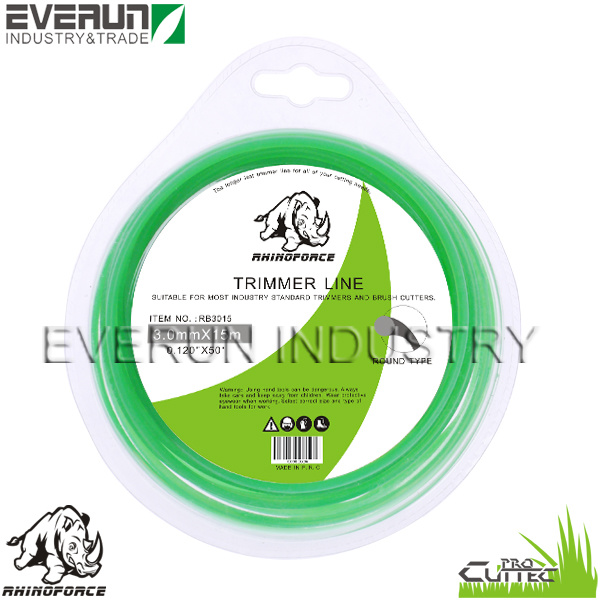 "RHINOFORCE 3.0mm 0.120"" Monofilament Trimmer Line"