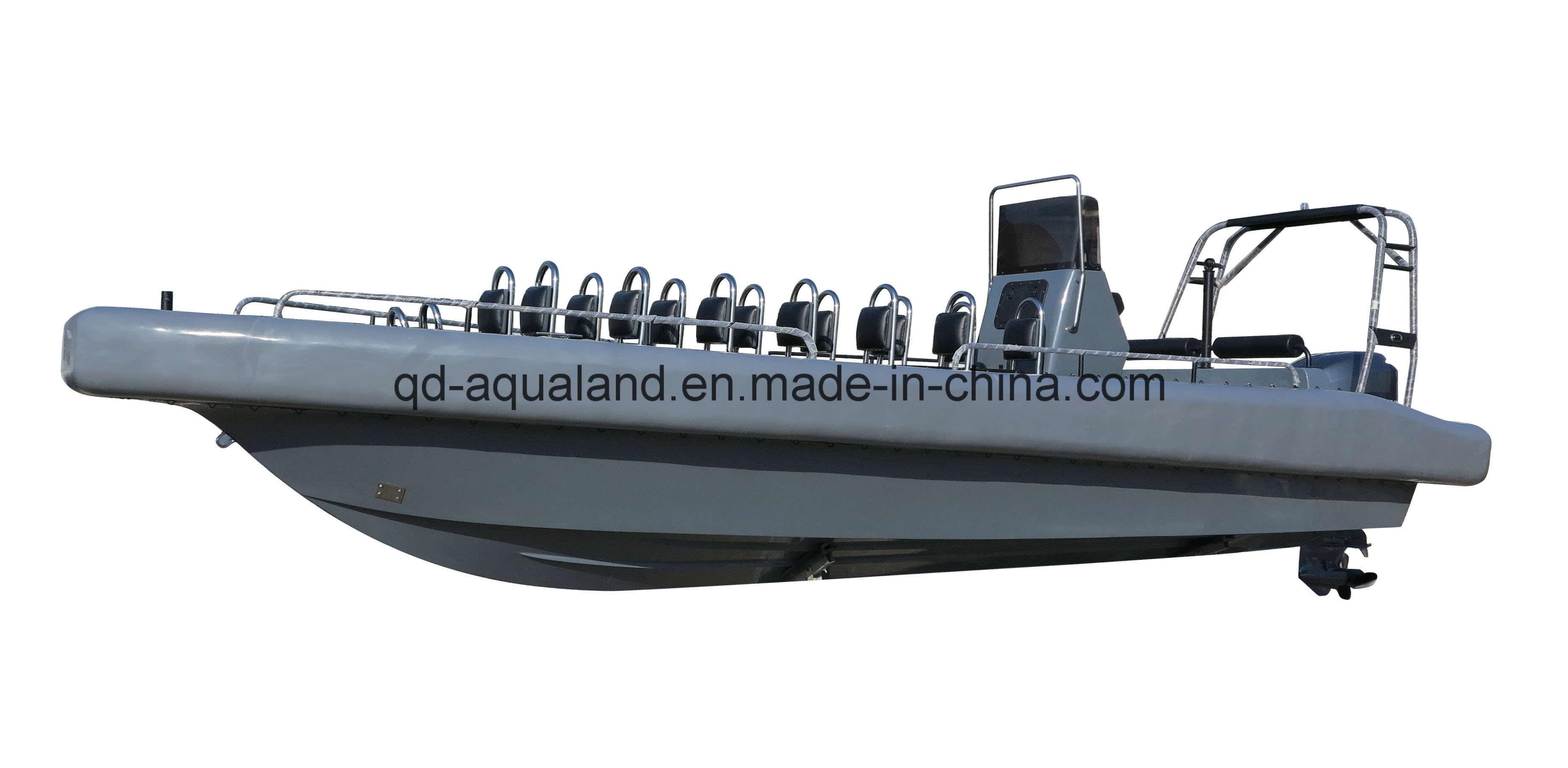 [Hot Item] Aqualand 26feet 8m Solid Foam Fender Sponson Tube Rigid  Inflatable Military Patrol Rescue Rib Motor Boat (rib800b)