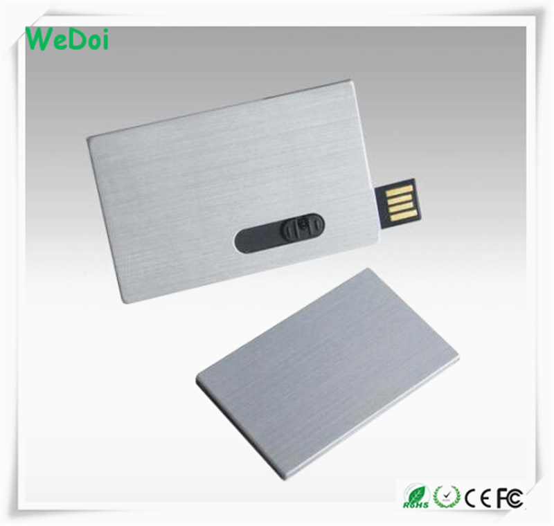 Sliding Metal Credit Card USB Flash Drive with Factory Price (WY-C05)