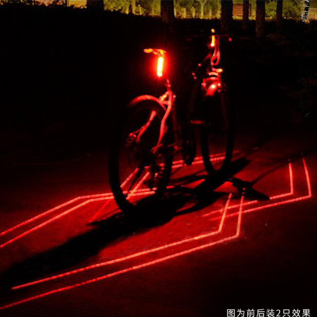 Hot Sale Waterproof Bicycle Bike Tail Warning Red Rear Safety Flash Light 5 LED