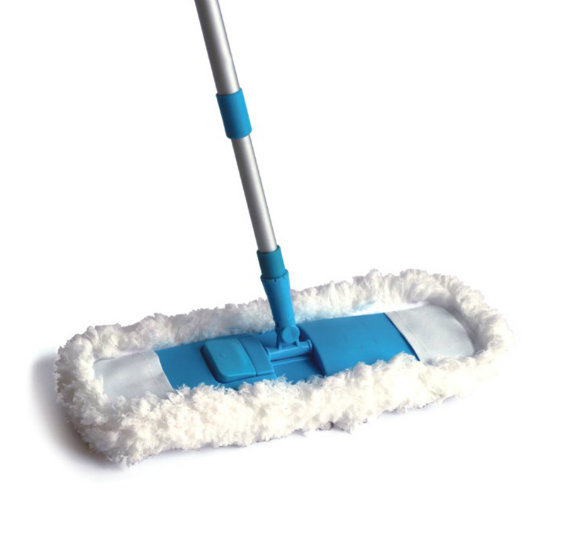 Telescopic Handle Chenille Microfiber Feather Flat Cleaning Mop (1002)