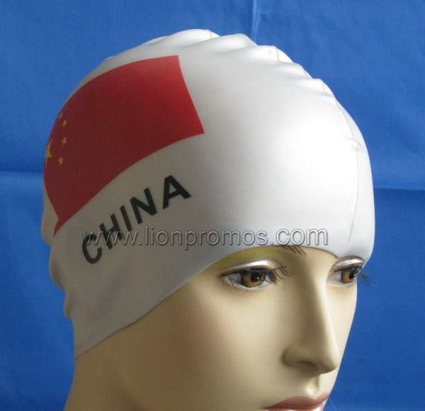 Custom Printing Summer Promotion Gift Silicone Swimming Hat pictures & photos
