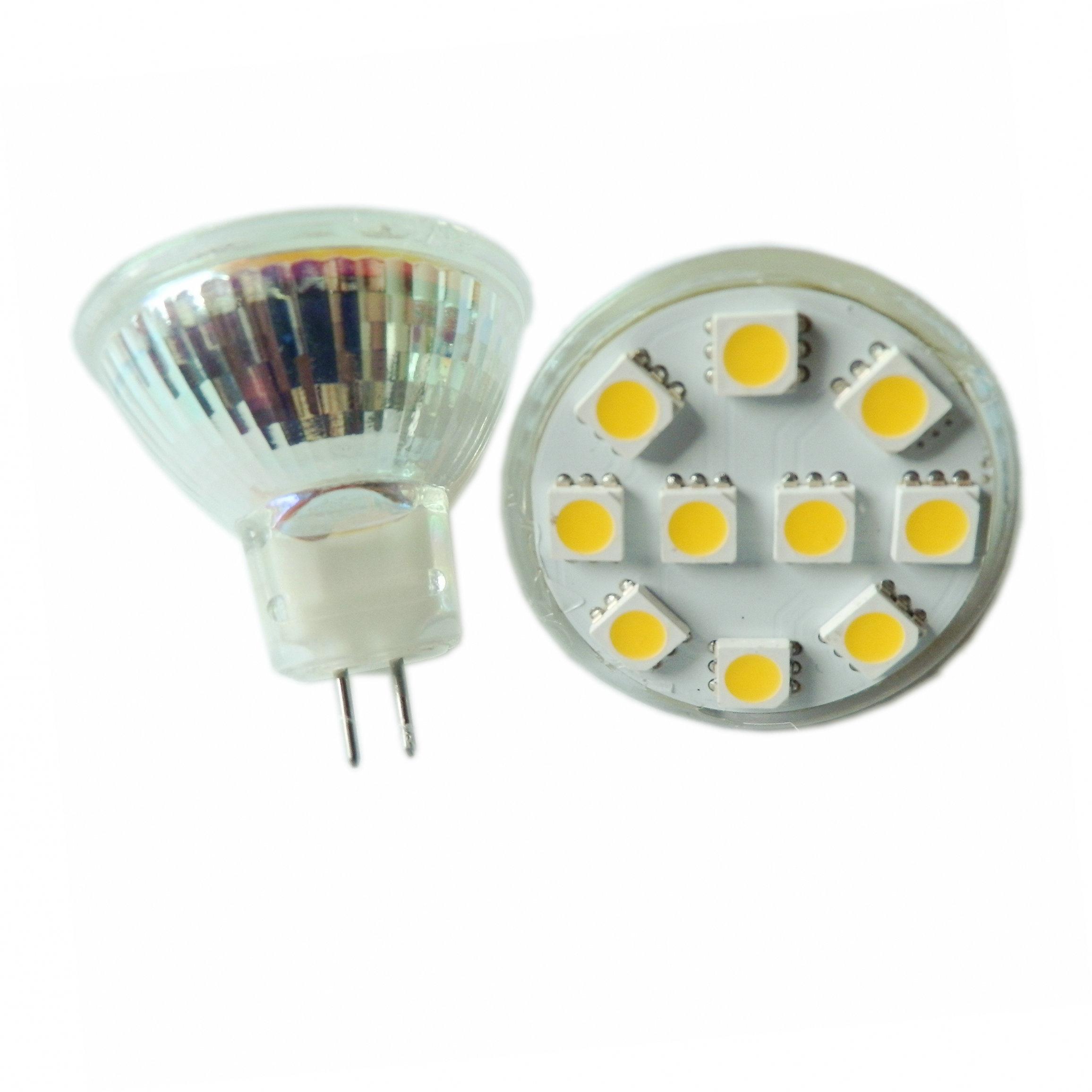 Hot Item Bi Pin Bulb 10smd Warm White Mr11 Led