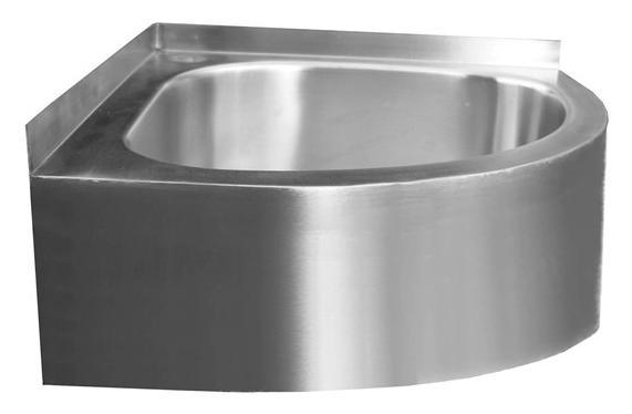China Vandal Resistant Wall Mounted Corner Hand Wash Basin, Stainless Steel  Hand Wash Sink   (BM36 1)   China Vandal Resistant Hand Basin, Wash Bowl