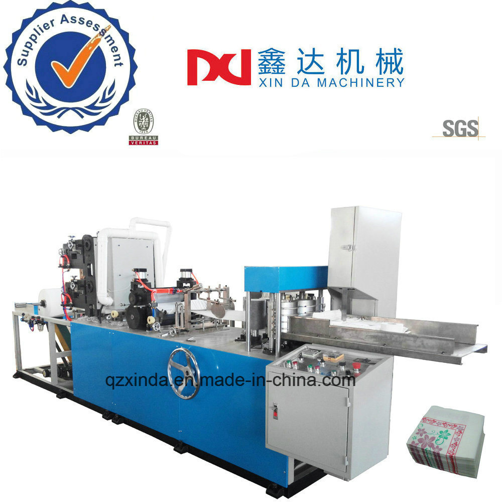 [Hot Item] High Speed Automatic 3 Color Printing Folding Serviette Tissue  Paper Machine
