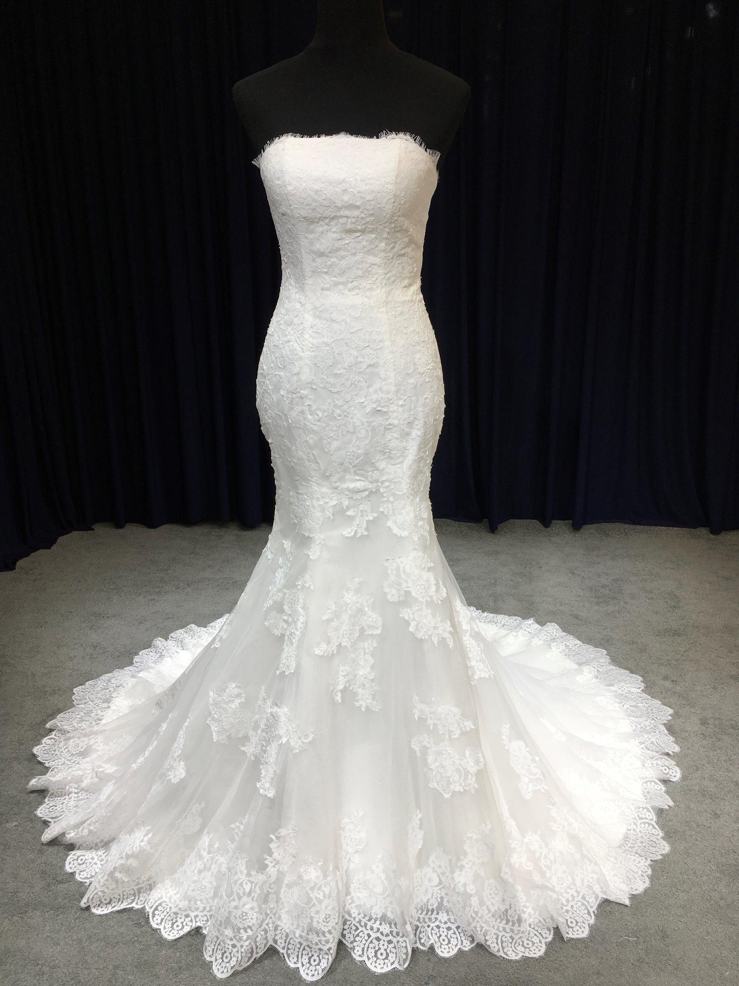 5b3ed53a89811 China Aoliweiya Strapless Plain Lace Soft Tulle Wedding Dress - China  Wedding, Wedding Dress
