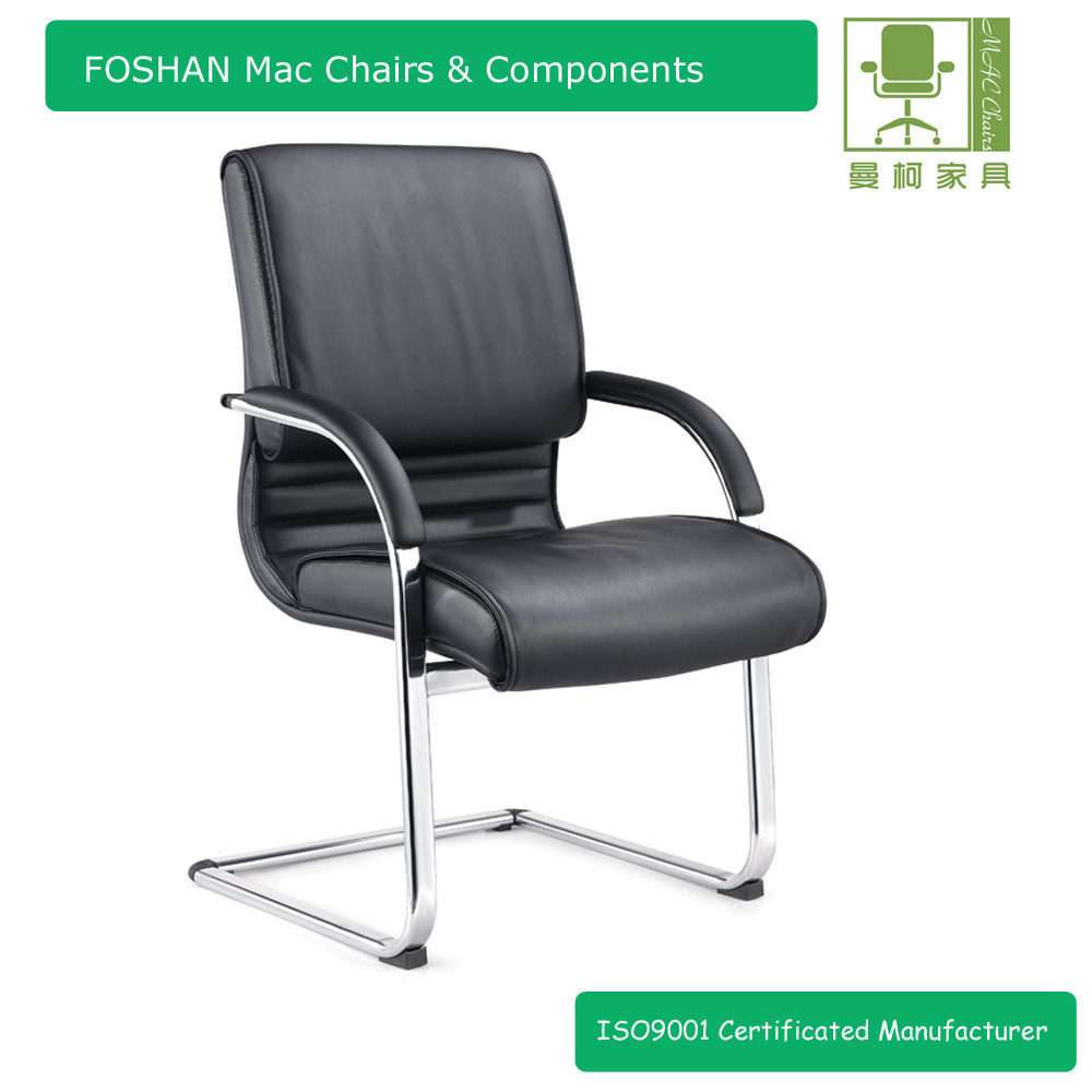[Hot Item] Comfortable Leather Conference Room Chairs/Meeting Room Chairs  with Chrome Frame Leg