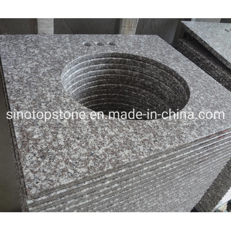 China Polished Granite Commercial Bathroom Vanity Top 49x19 With Bathroom Sink China Countertops Interior
