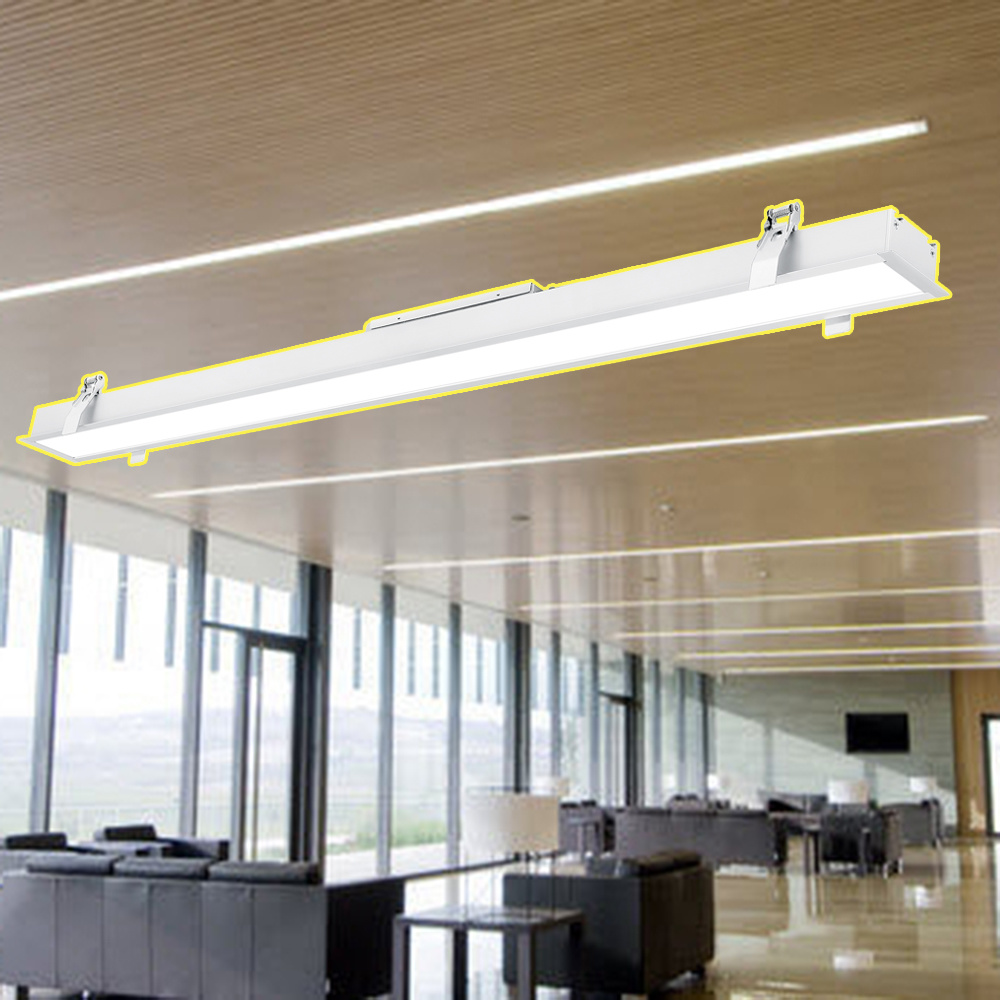 Hot Item Commercial Led Linear Light Ceiling Recessed Lamp Linkable Connecting With Non Flickering Driver