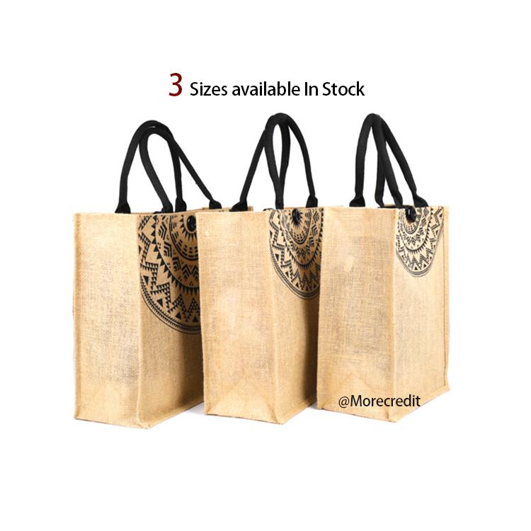 Oned Closure Jute Market Tote Bag