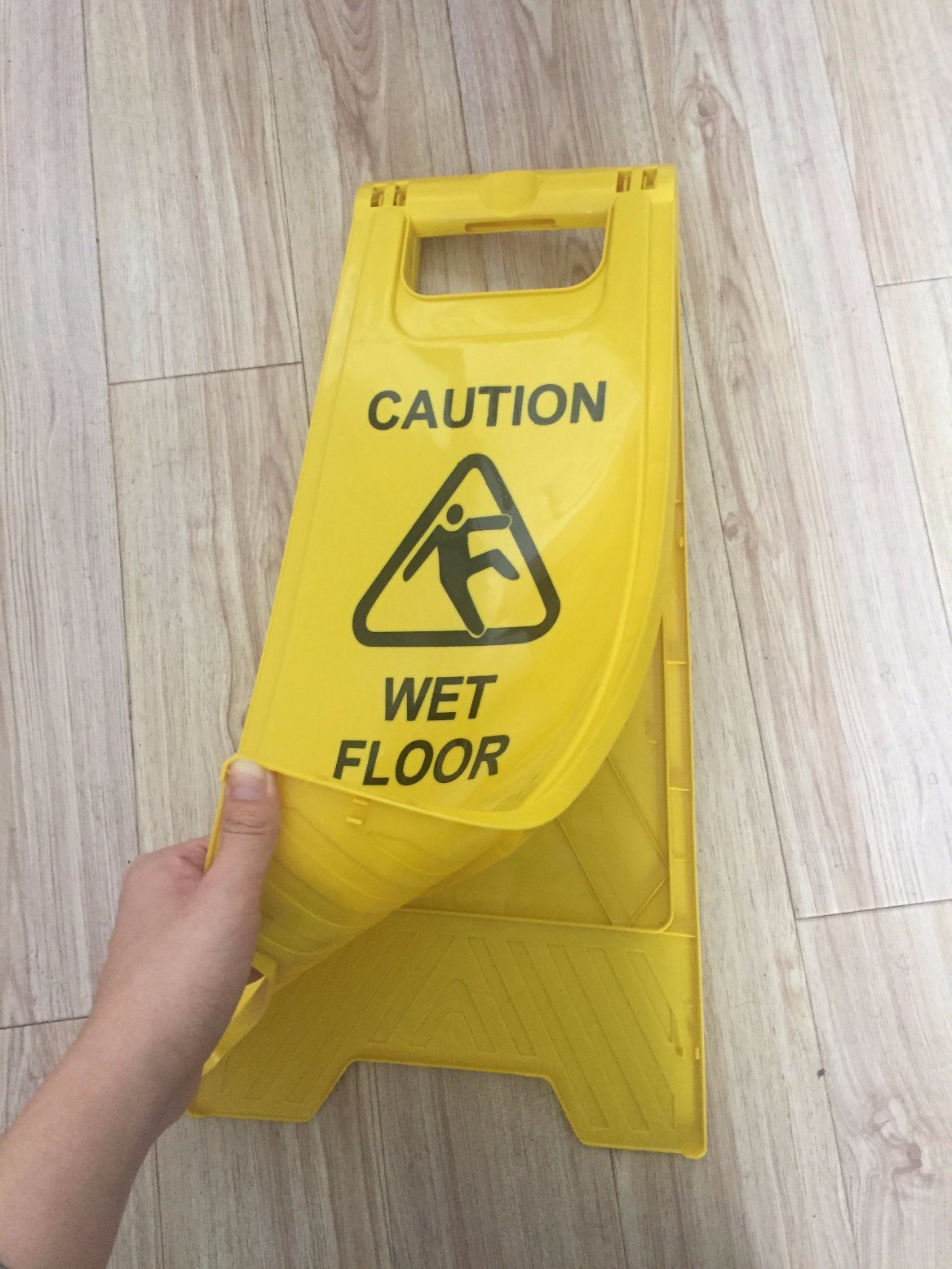 floor of is imgur this gallery made cardboard wet out sign