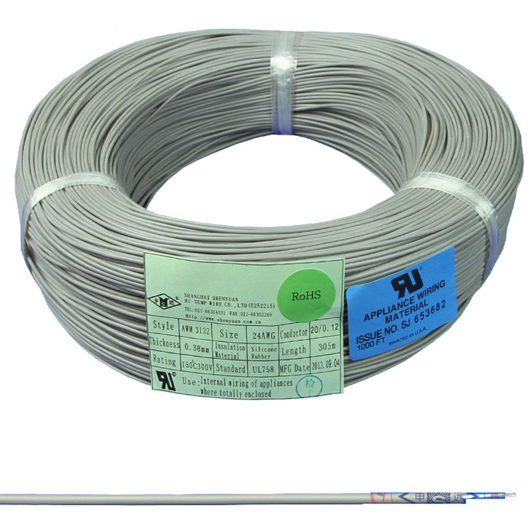 China Awm 3132 Silicone Rubber Heat Resistant Wire Photos & Pictures ...