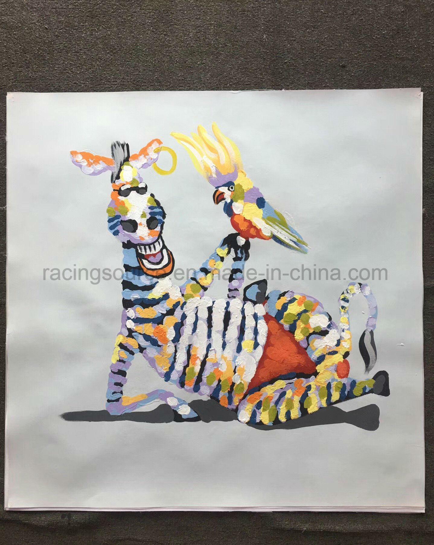 e9b524fce8255 [Hot Item] Custom Handmade Oil Painting Art Animal Zebra Canvas Painting  for Living Room