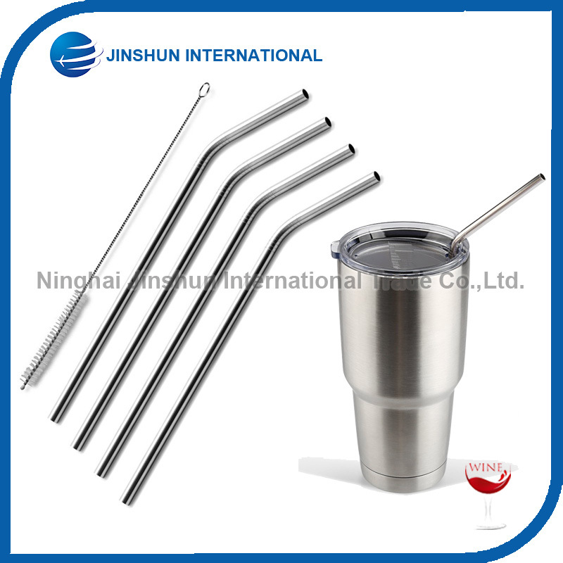 [Hot Item] 18/8 Stainless Steel Straws with Brush, Reusable Metal Drinking  Straws for 30 or 20 Oz Tumbler Rambler Cups (bend)