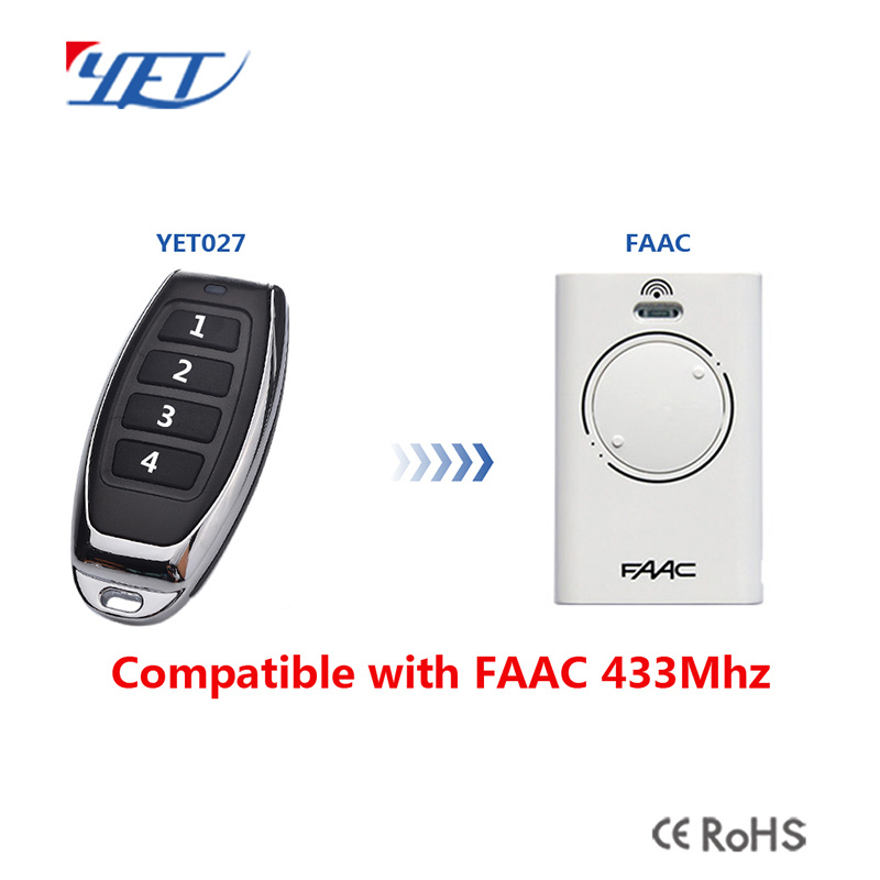 China Universal Remote Control Faac 868 For Gate Door Barrier Alarm