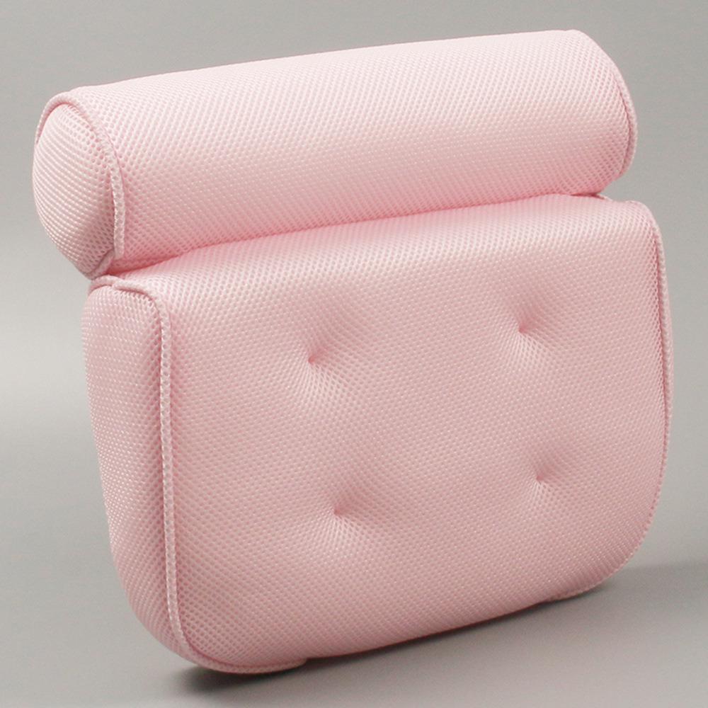 Pillow Bathtub Home Soft Headrest SPA Bath Neck Cushion Accessories With Suction