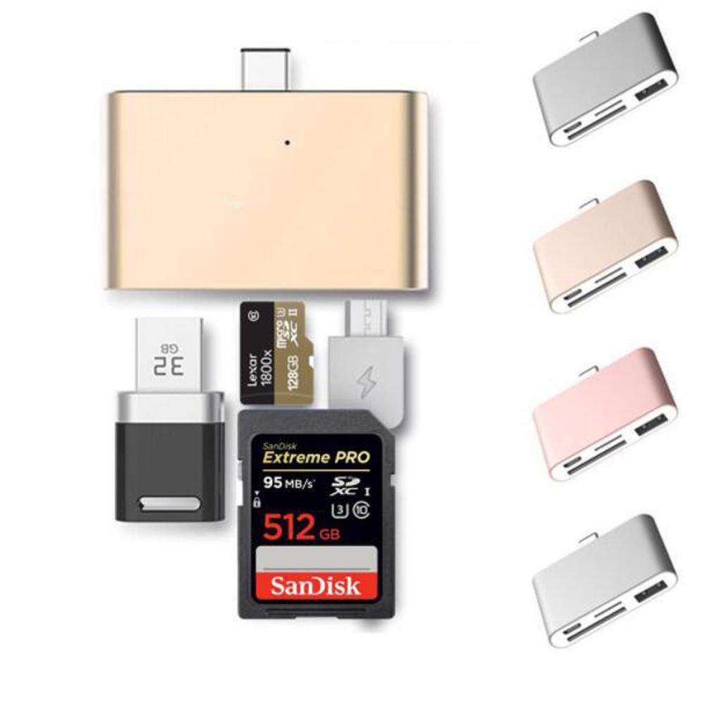 China Usb C Hub Type Sd Card Reader Otg Memory Adapter For Macbook I Flashdrive External Storage Apple Iphone Ipad Chromebook Micro