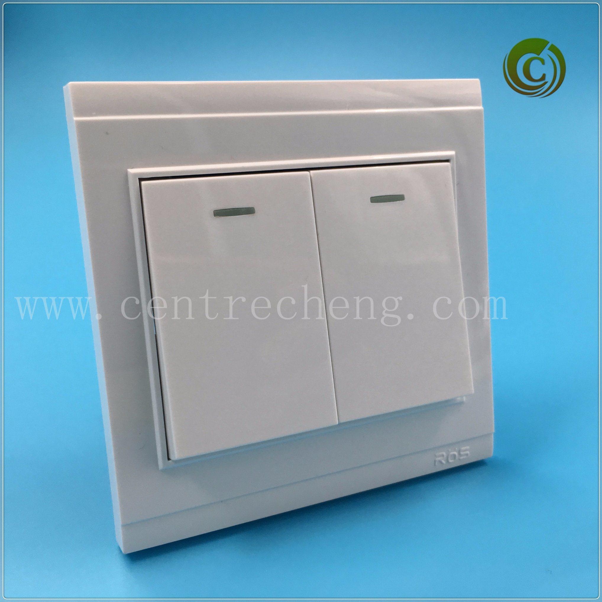 China 2018 Foshan 2 Gang 2 Way Big Plate Switch Electrical Switch ...