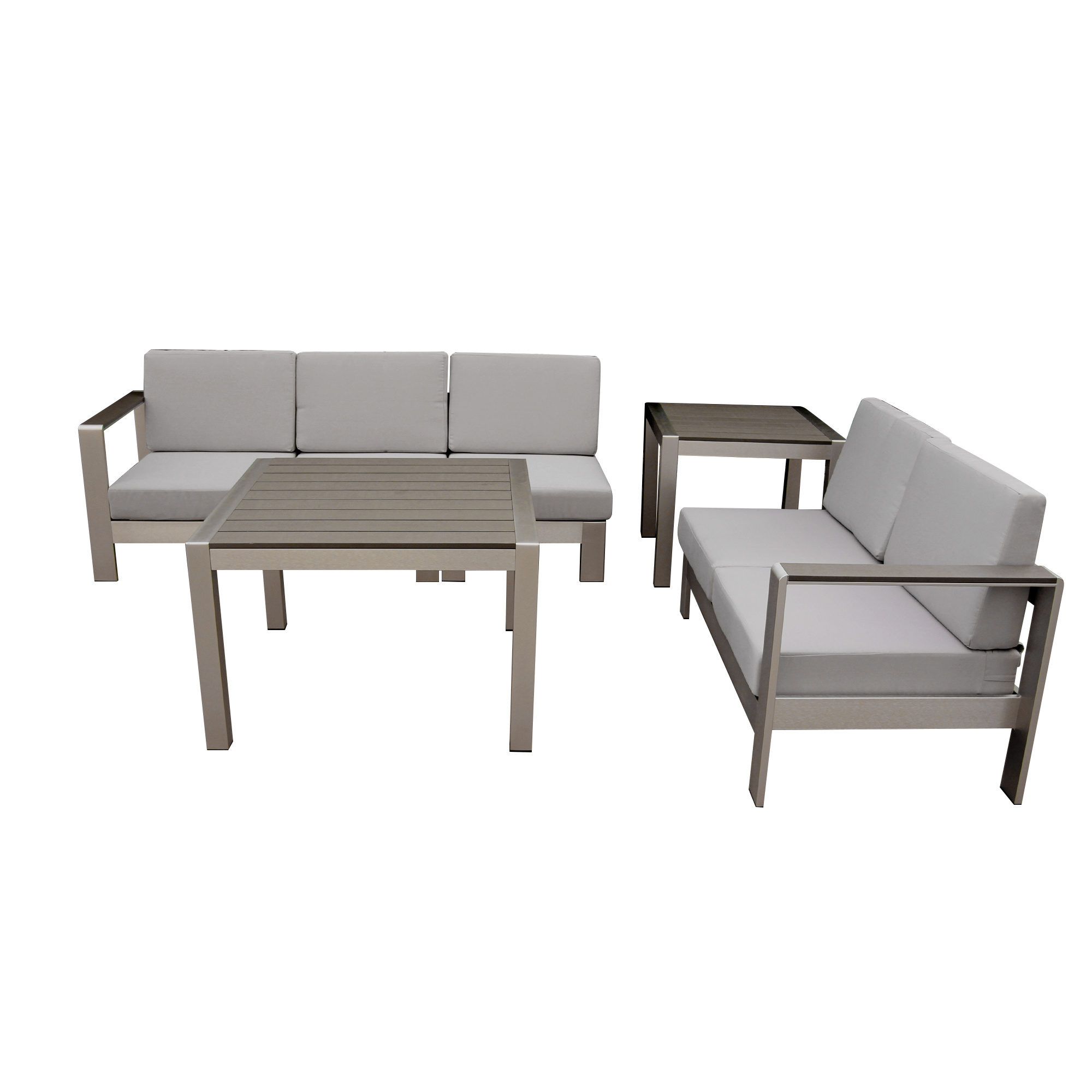 China modern good quality garden outdoor patio furniture different combination sofa coffee table with plastic wood top sofa set china garden outdoor