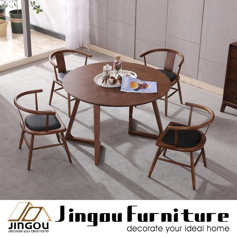 China Modern Wood Round Dining Table Restaurant Furniture For Home