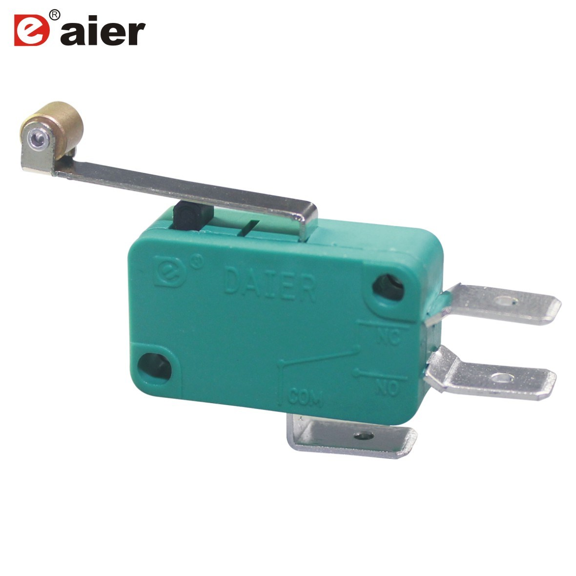 China Sensitive 16a 3 Pin Momentary Microswitch With Roller Lever Micro Switch