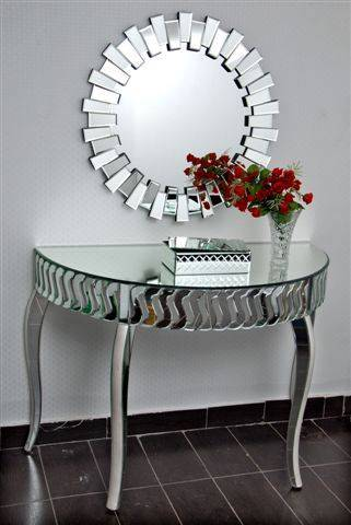China Fancy Modern Decorative Silver Wall Round Mirror China Wall Mirror Mirror