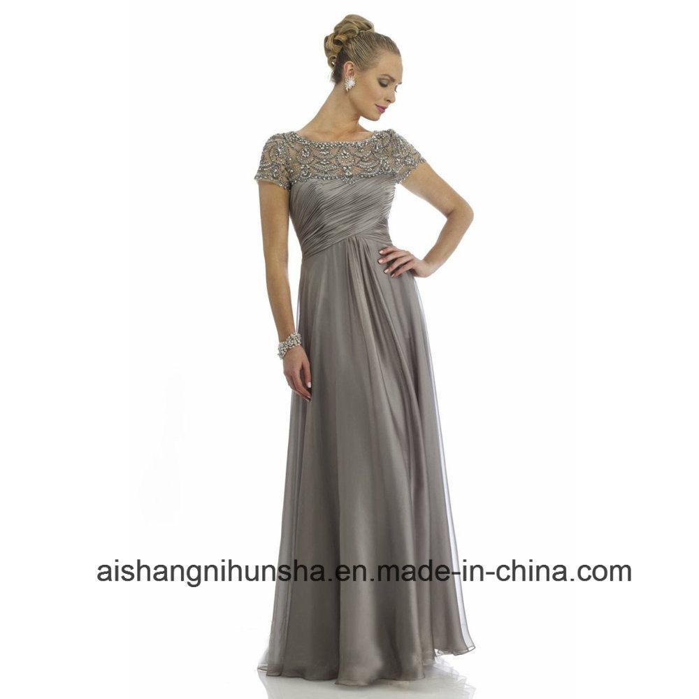 China Chiffon A-Line Beaded Long Bridesmaid Dresses Wedding Party ...